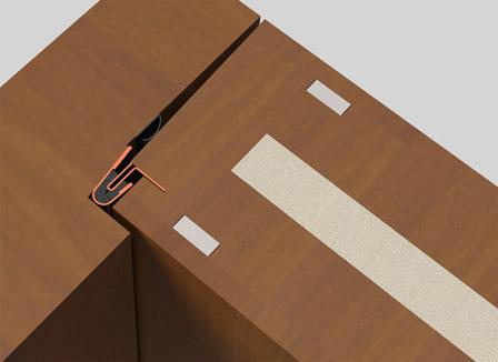 coupe froid interlock pour portes de bois portes bourassa. Black Bedroom Furniture Sets. Home Design Ideas