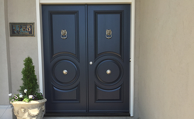 High-end Wooden front door