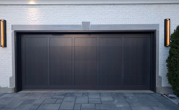 Modern wooden garage doors