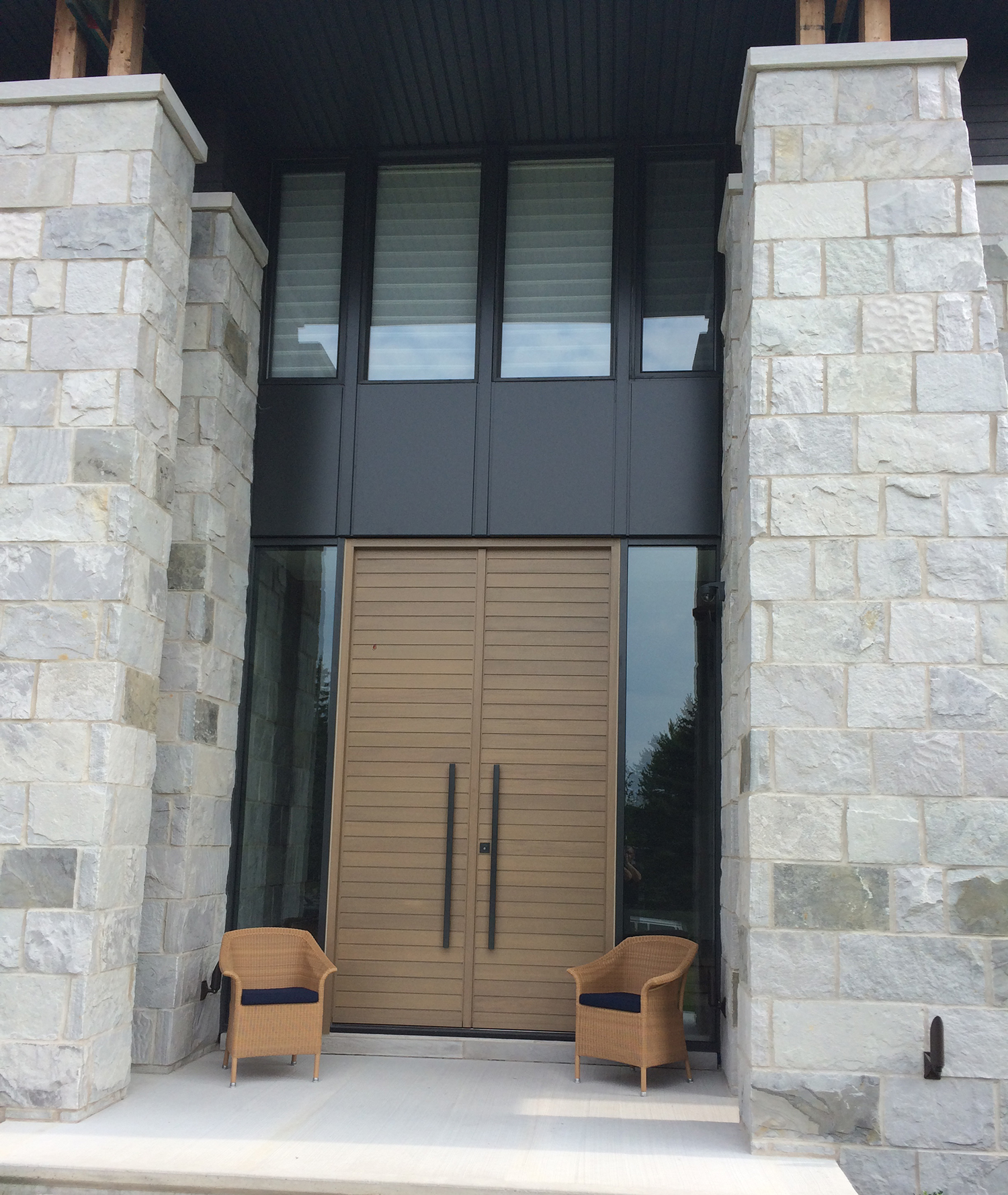 modern-style door model with square v-joint panels