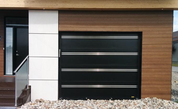 Porte d 39 acier personnalis e et unique portes bourassa - Porte de garage moderne ...