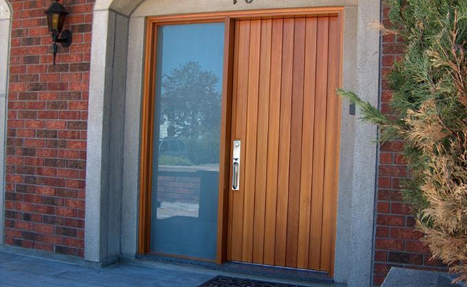 portes bourassa porte d 39 entr e en bois style moderne 013. Black Bedroom Furniture Sets. Home Design Ideas