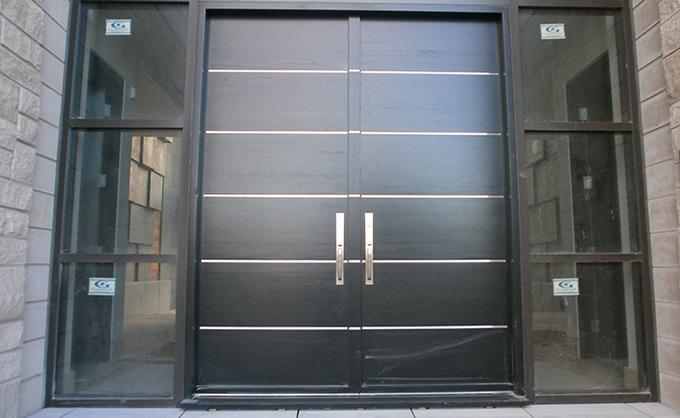 Les Portes Modernes portes bourassa   porte d'entrée en bois - style moderne #039