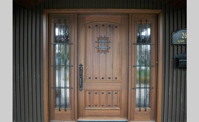 Beau Wooden Front Door   Tudor Style #071