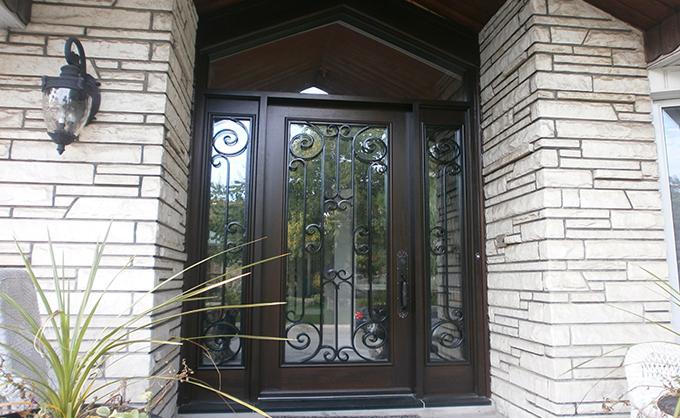 Portes Bourassa Wooden Front Door Tudor Style 075