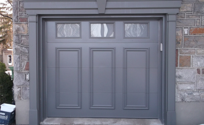 Garage doors in steel bourassa