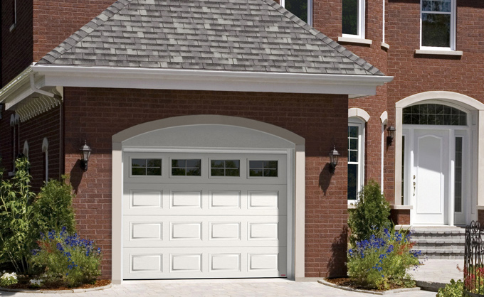 Garage doors in steel garaga