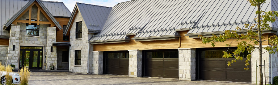 Wooden front and garage doors